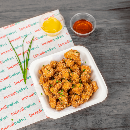 Popcorn Chicken y Salsa Mostaza Miel