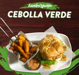 Hamburguesa Cebolla Verde