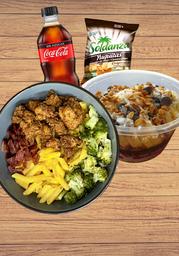 Combo Bowl + Bowl Dulce + Bebida + Yucas