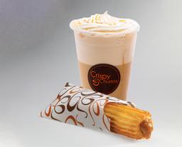 Churro Relleno y  Café Frío