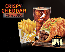 Crispy Cheddar Chalupa Regular (Steak)