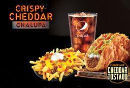 Crispy Cheddar Chalupa Supreme (Beefy)
