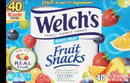 Welch's Mix Fruit Snacks 40U
