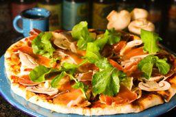Pizza Pita Jamón Serrano Grande