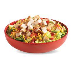 Spicy Smoky Chicken Club Salad