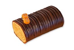 Arrollado de mazapán de chocolate