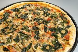 Pizza de Espinaca y Hongos XL