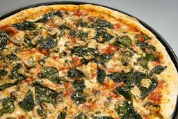 Pizza de Espinaca y Hongos