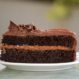Queque de Chocolate con Dulce de Leche (porción)