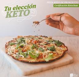 Ketopizza Prosciutto Pequeña