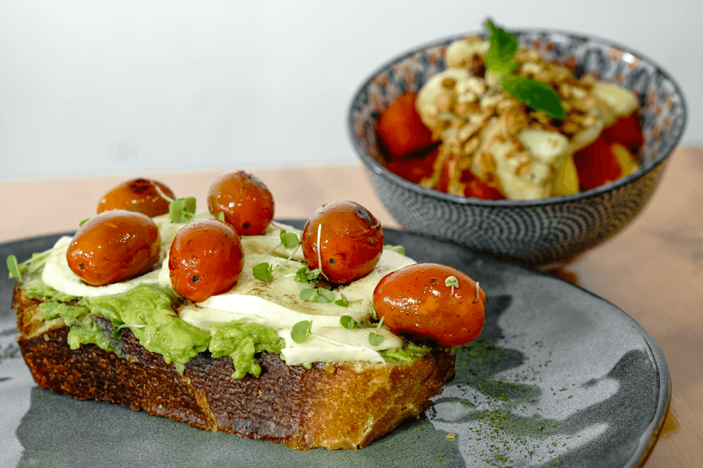 Avocado Cherry Toast
