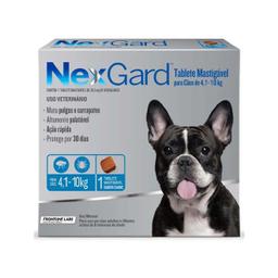Medicamento Antipulgas Nexgard Nex Gard Para Perro 4-10 Kg 1 U